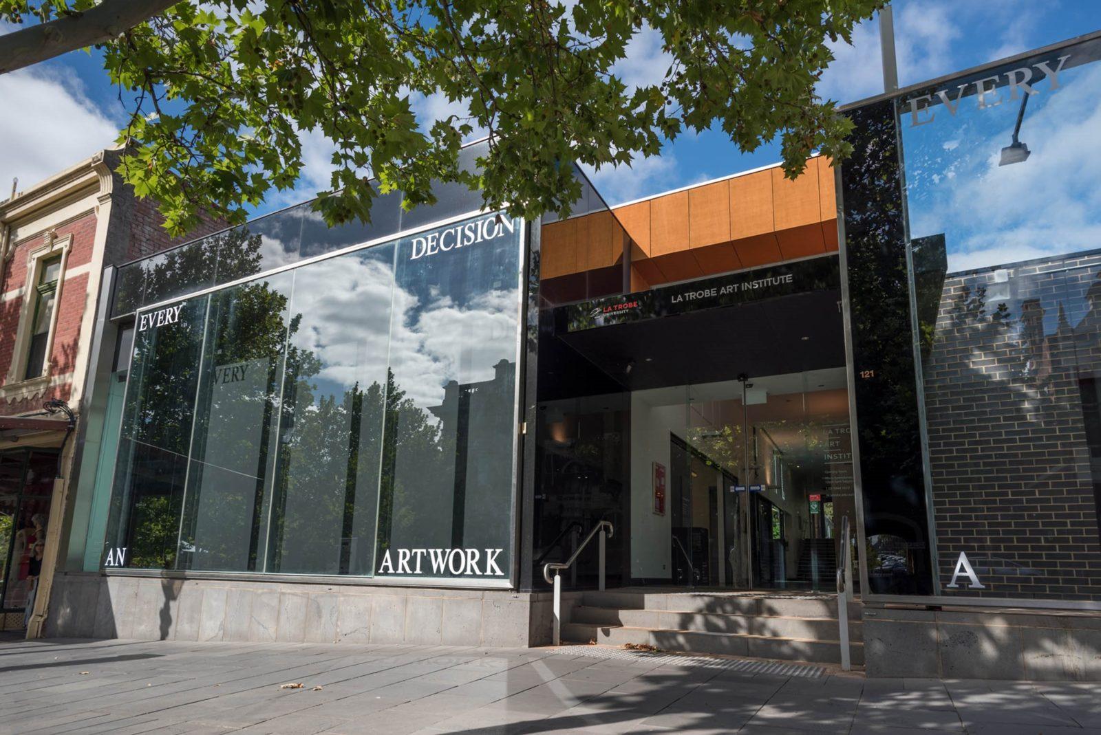 Facade of La Trobe Art Institute
