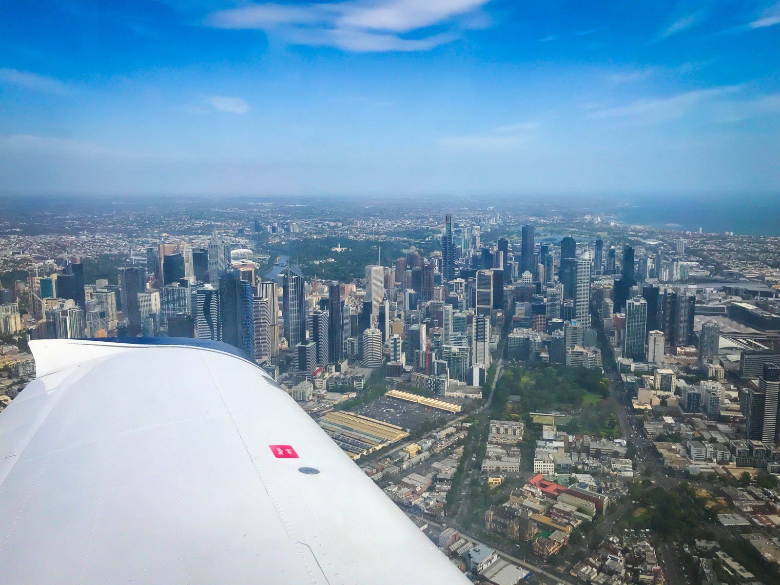 Melbourne from above - Trial Introductory Flight