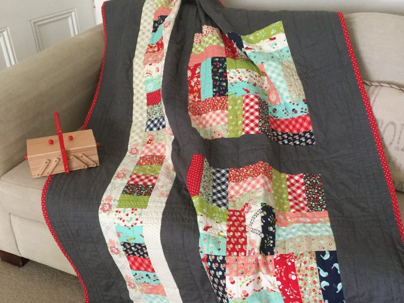 Said With Love Jelly Roll Patch quilt back