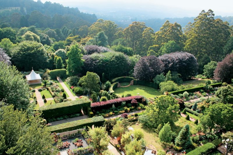 Cloudehill Gardens from above