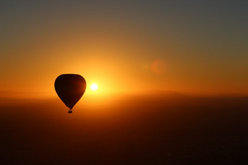 Hot air ballooning at sunrise Liberty Balloon Flights