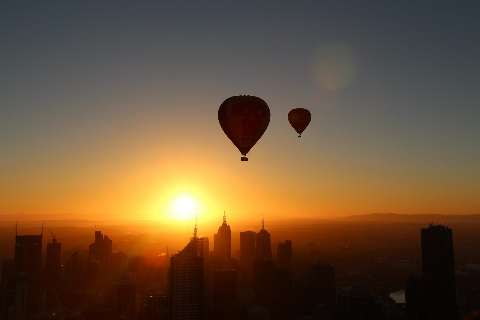 Hot air ballooning Tasmania Gippsland Melbourne Geelong