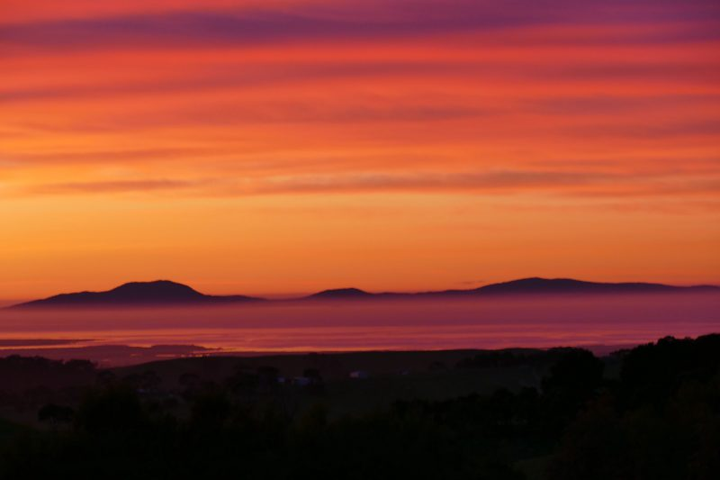 View of Wilsons Prom sunrise