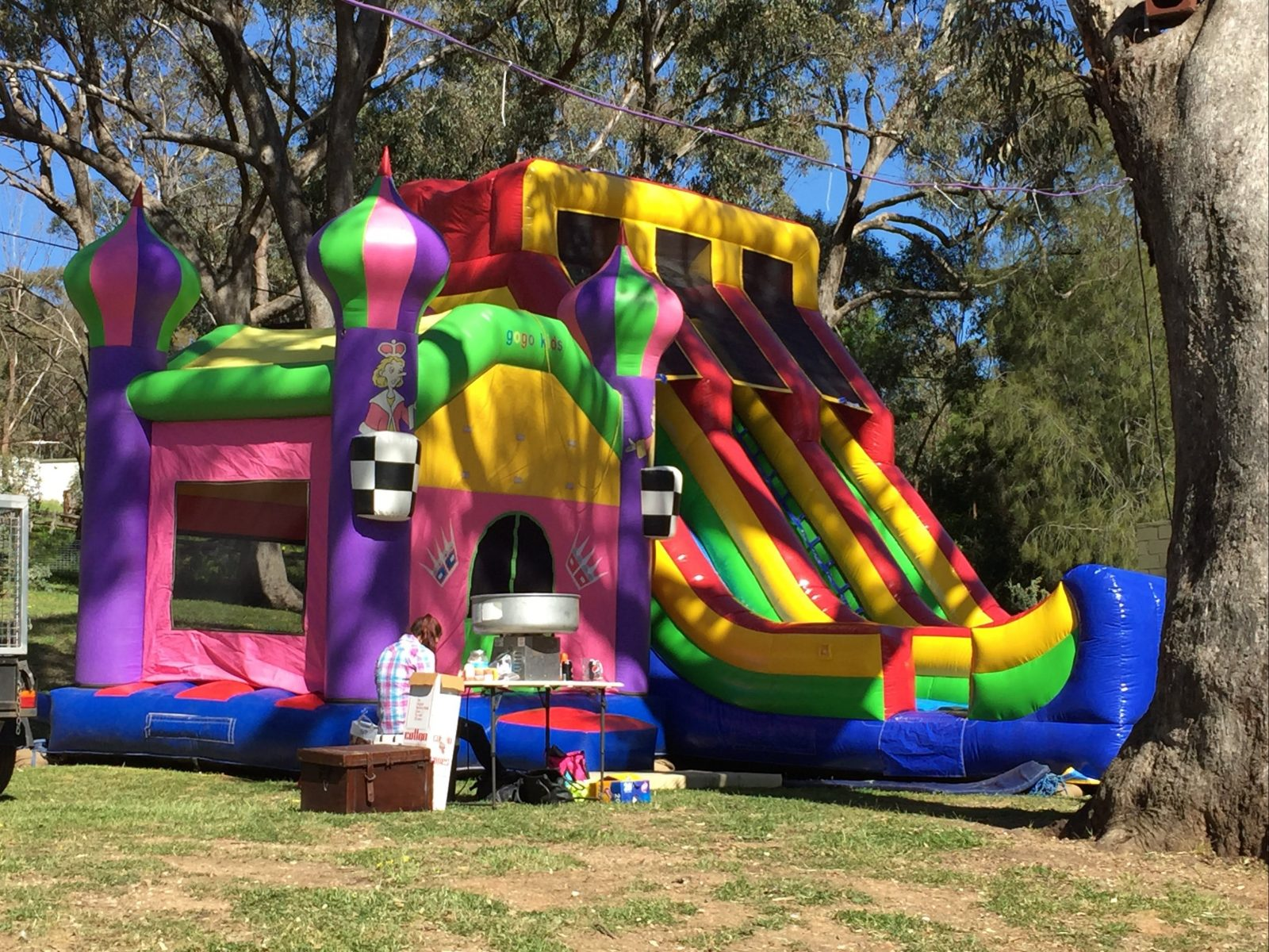 jumping castle, and giant air slide
