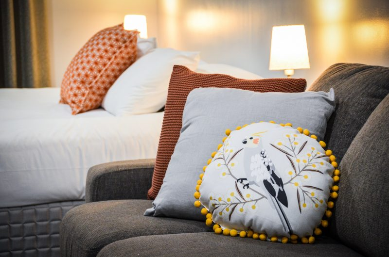 Mansfield Apartments are fully furnished in a contemporary style