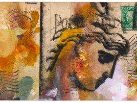Metropolis Gallery - Marco Luccio Postcard 101 (2019) Mixed Media 10.5 x 15cm