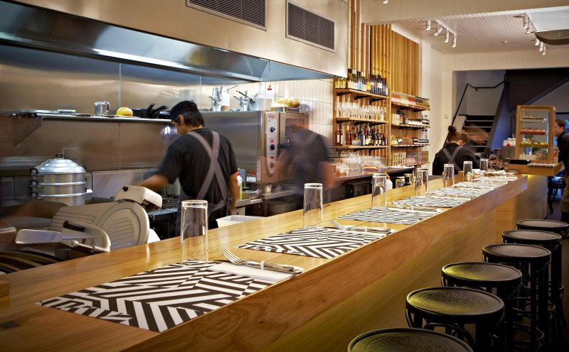 Masons of Bendigo open kitchen