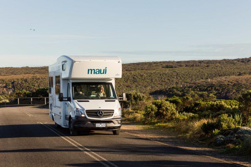 Maui motorhomes on the road