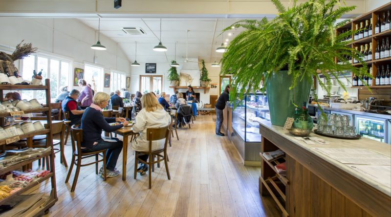 The cafe at Merricks General Wine Store