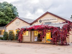 The front entrance at Merricks General Wine Store