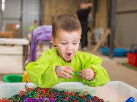 Messy Play in The Busy Peacock