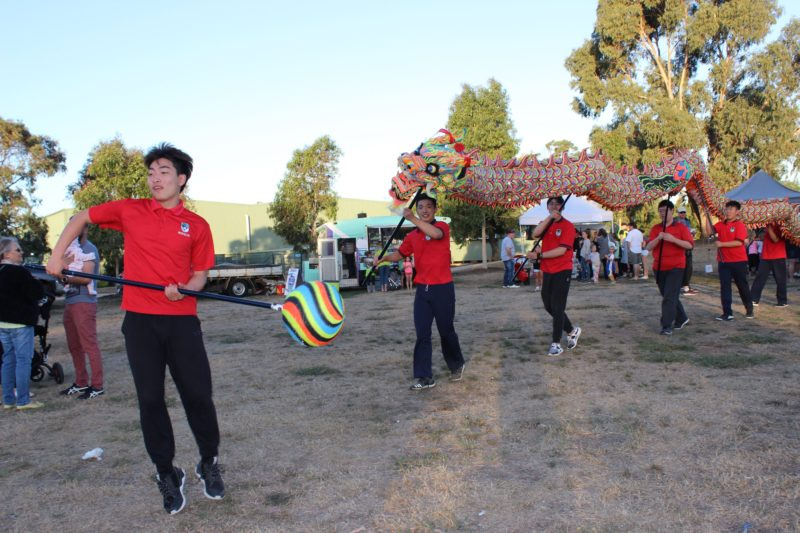 2017 event- The Kilmore International School Students and the Chinese Dragon