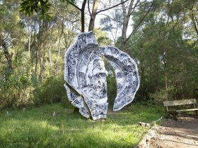 3.5 metre broken, discarded, souvenir plate 'The Golden Fleece'