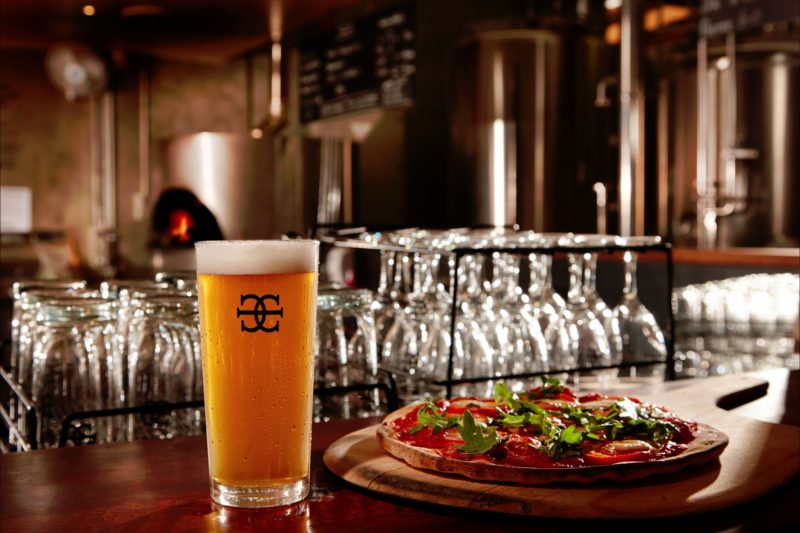 Mornington Peninsula Brewery Pale and pizza