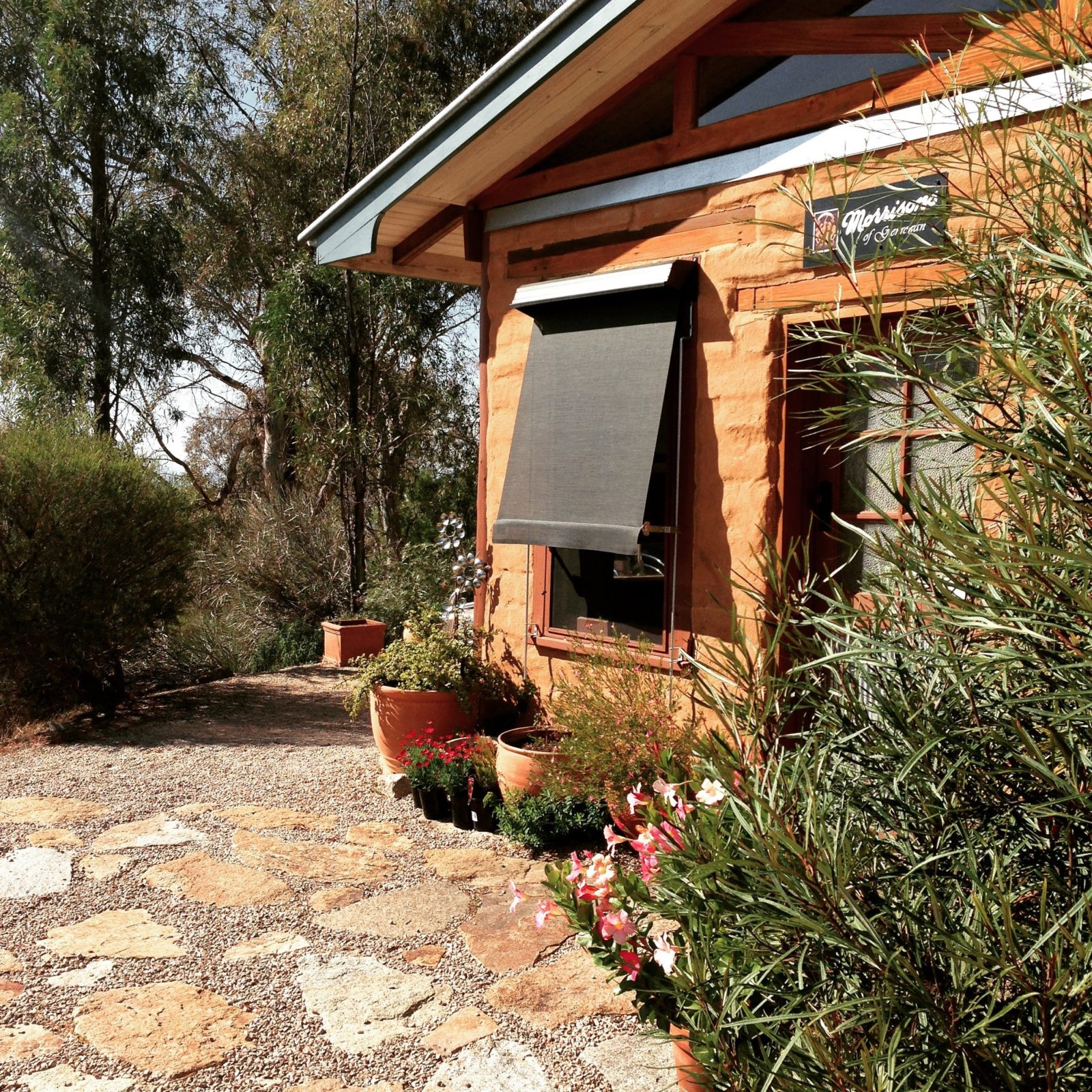 Morrisons has an accessible mud brick cellar door where you taste wines and where produce is sold