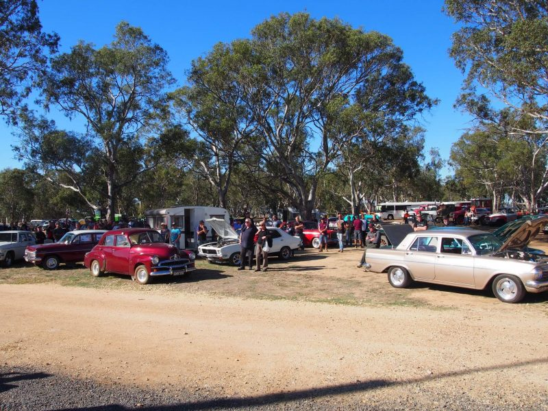 A display of historic vehicles at the Natte Yallock Recreation Reserve