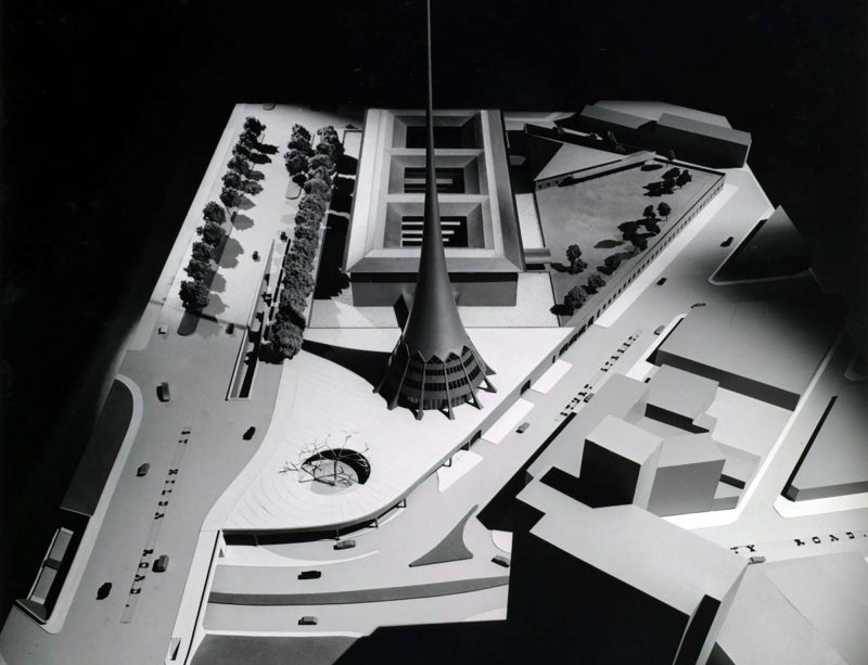 black and white architectural model