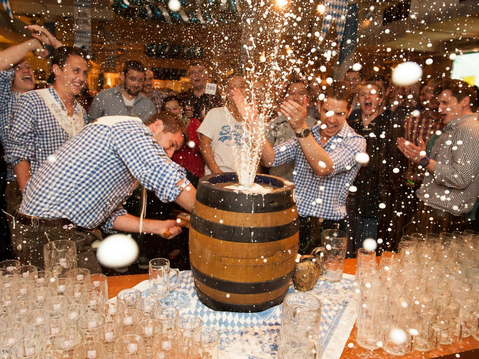 Experience Keg Tapping all weekend