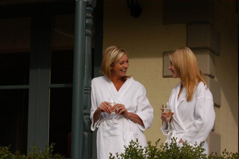 Two Ladies at Wellness Retreat