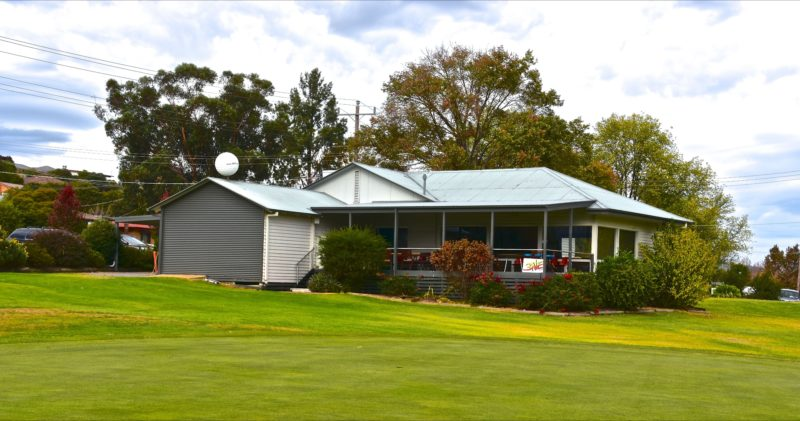Club house and 18th Green