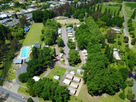 Myrtleford Holiday Park Aerial Shot