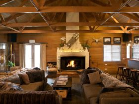 Nelse Alpine Lodge - Open fire and lounge