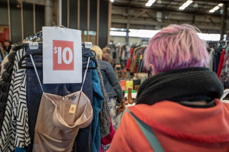 A market of 60 stalls selling quality pre-loved women's clothing and accessories. All undercover.