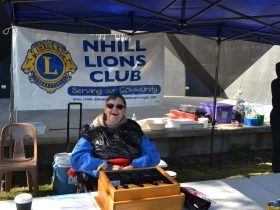 Always a smile from the Nhill Lions Club