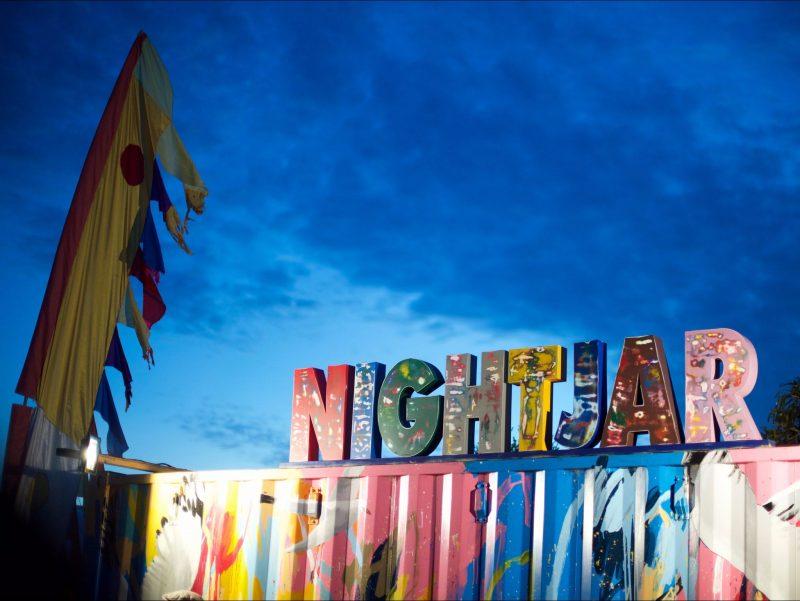 Art Installation at the Nightjar Festival