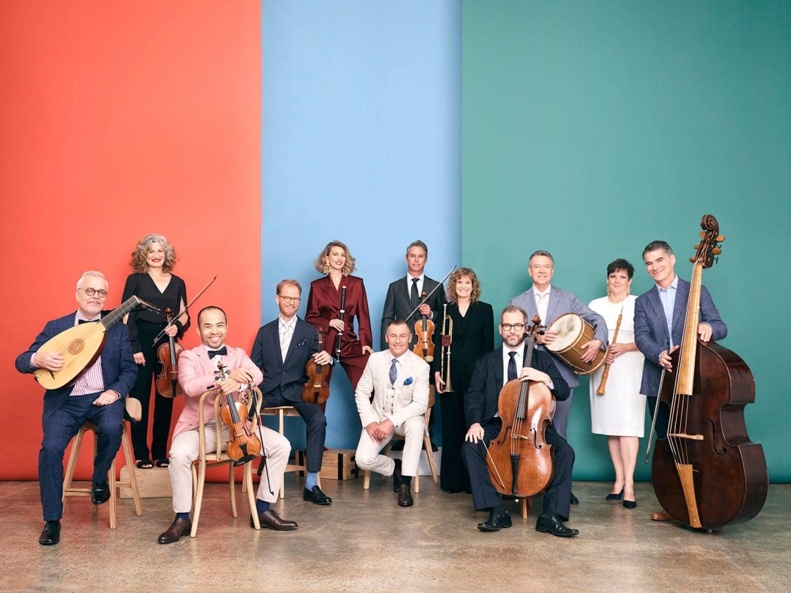 Photo of members of the Australian Brandenburg Orchestra
