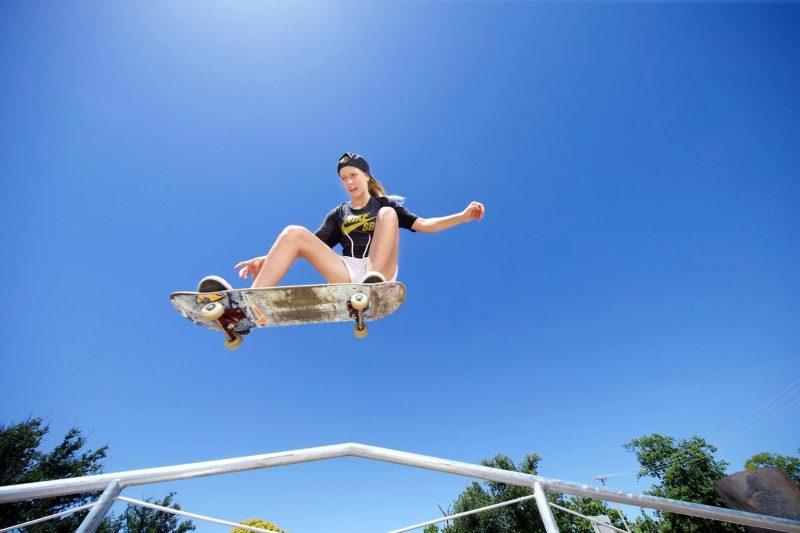 Local skateboarder Hayley Wilson
