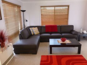 Relax in the Lounge room at Ocean Grove Holiday House Holiday House