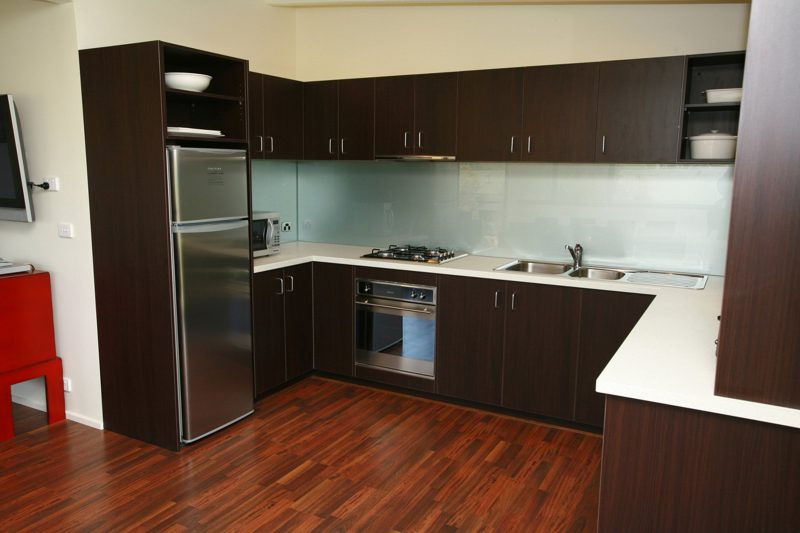 Oak Apartment Kitchen