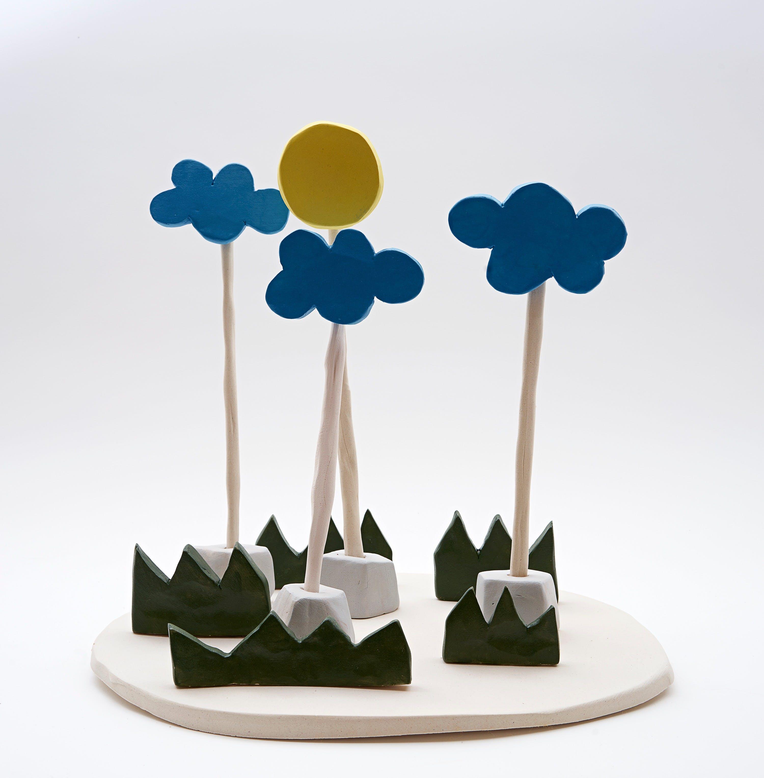 Olaf Breuning, Sun and clouds, 2016
