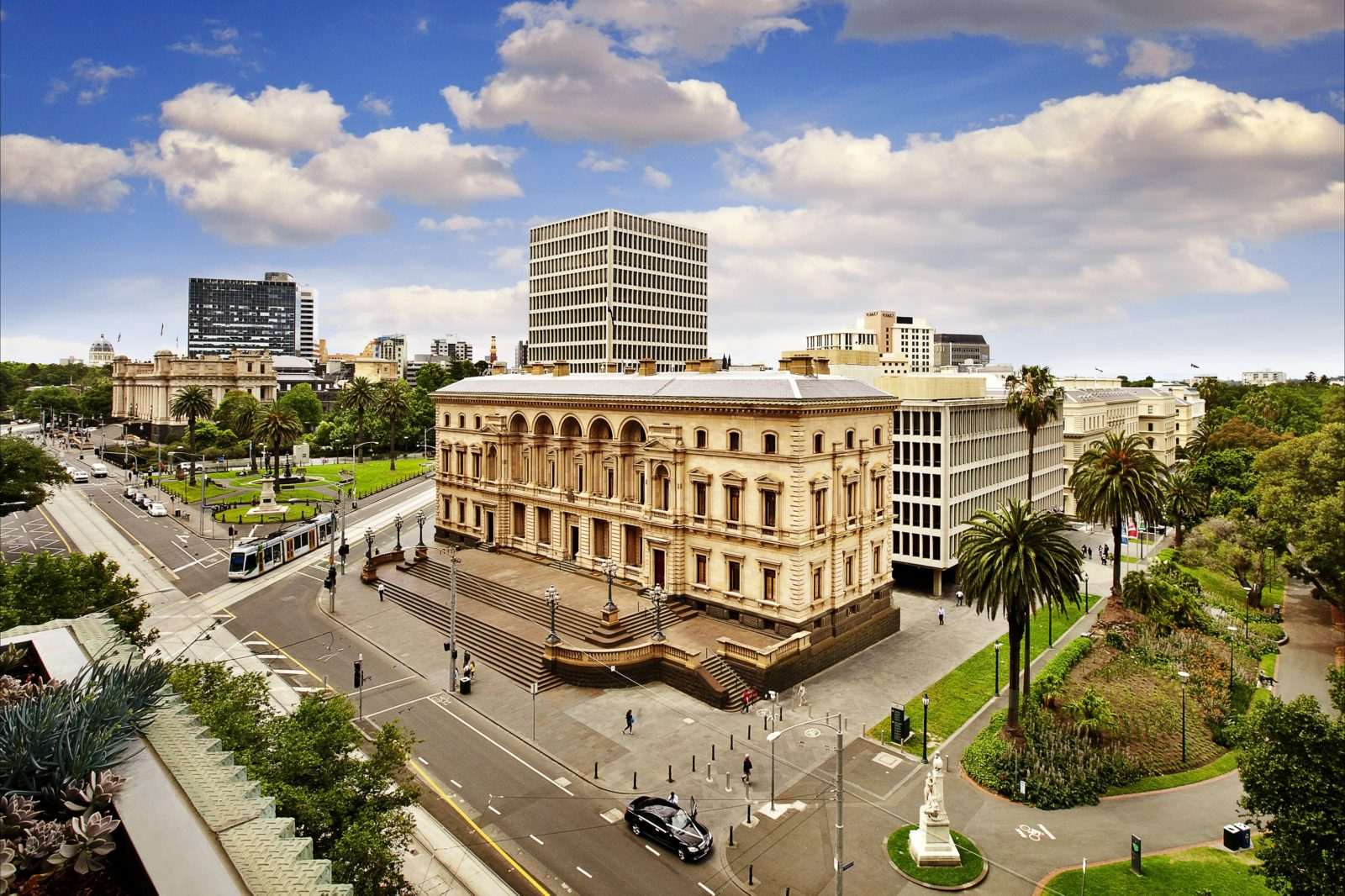 The Old Treasury Building during the day