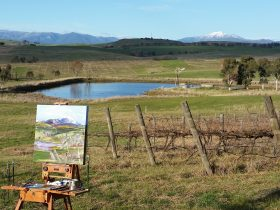 Oil painting en plein air