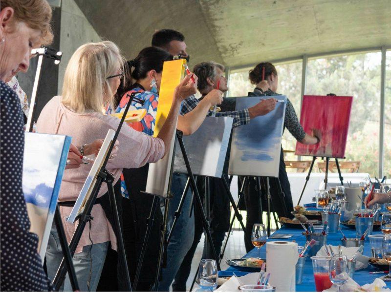 Paint and Sip Classes at Leura Park Estate