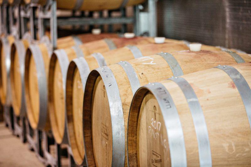 Wine in the barrels