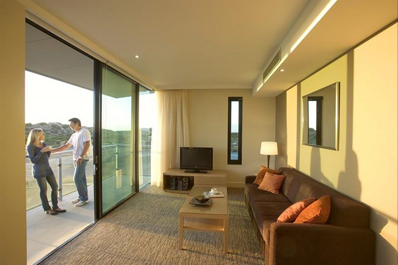 Deluxe Room Lounge and Balcony