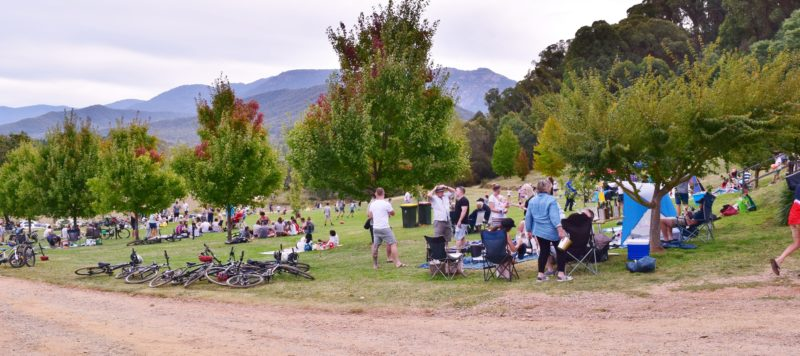 Visitors enjoying a picnic in the vineyard