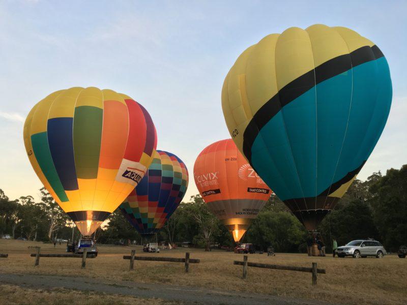 Hot air ballooning Daylesford