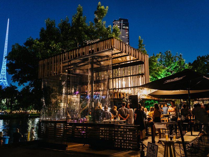 Pilgrim Bar evening Yarra River