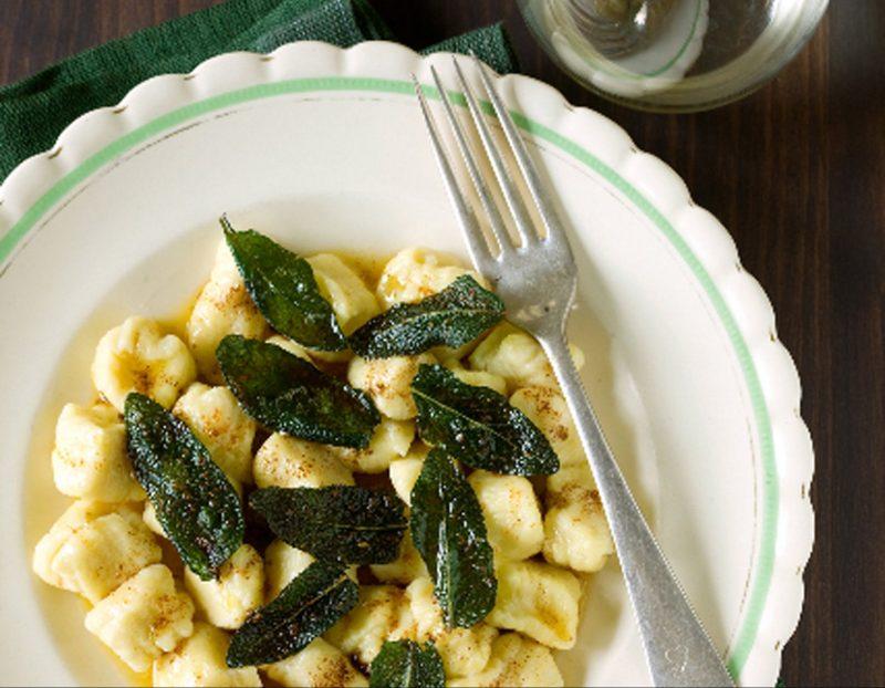 Potato Gnocchi with sage burnt butter sauce