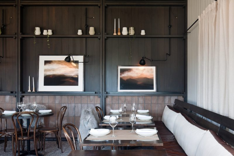 Polperro Bistro dining area designed by Hecker Guthrie