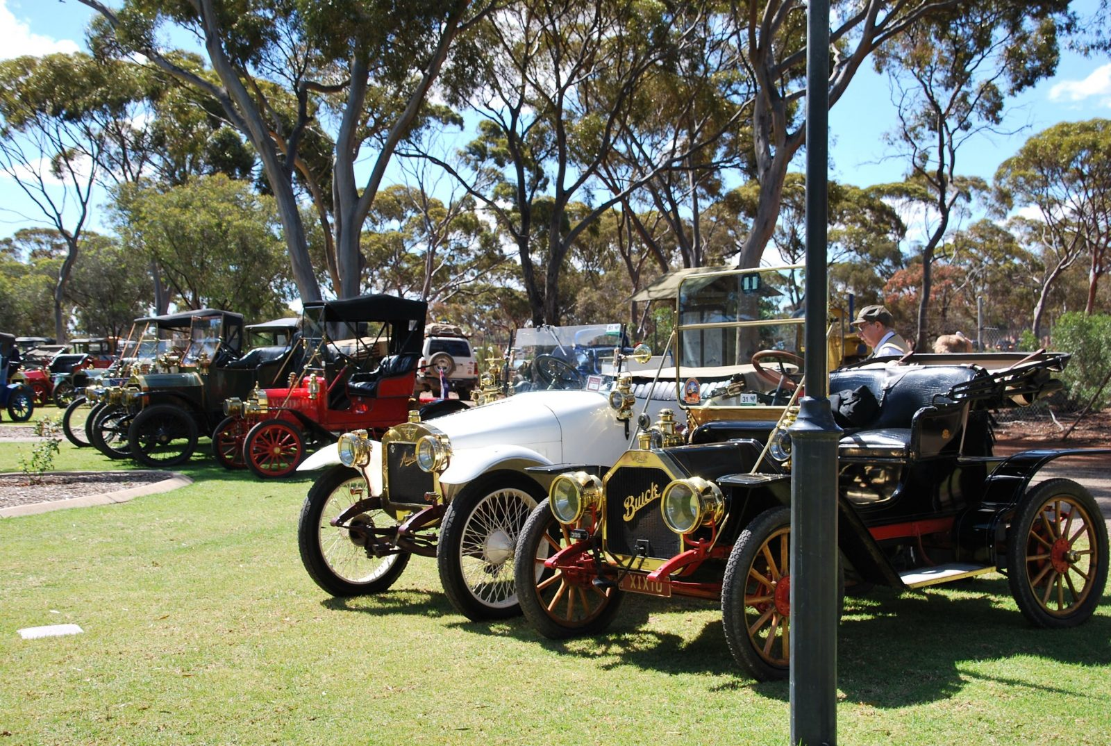 Veteran cars on display