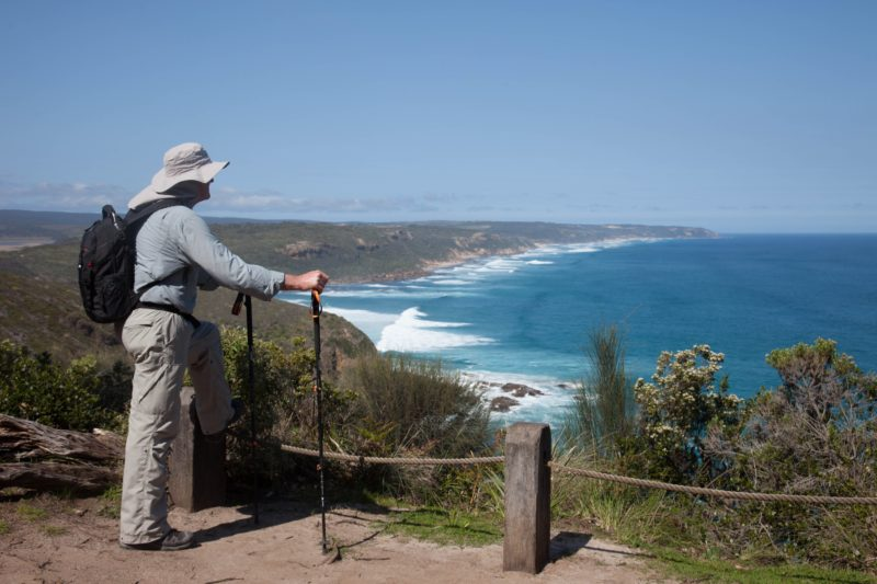 Looking back down the coast to Cape Otway