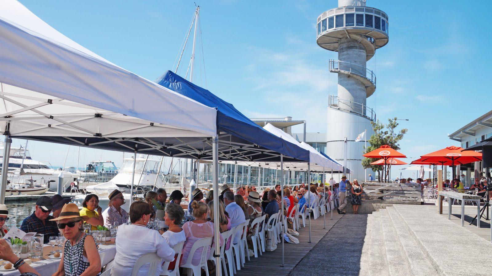 Longest lunch held at the board walk of Queenscliff Harbour
