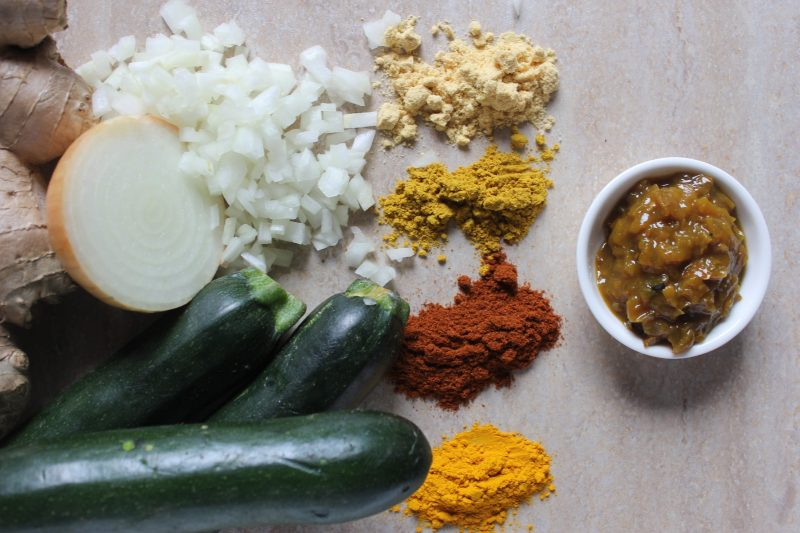 Make curried zucchini relish in Jacican summer preserves relish cooking class, Gippsland