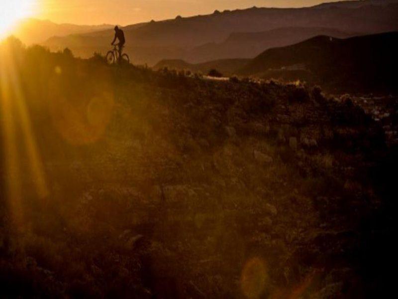 Sunset MTB Rider