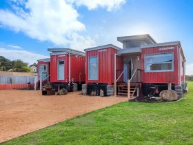 A warm welcome to RETRO RIVER REST, luxury shipping container house, by the river, by the ocean.